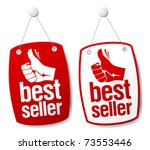 bestseller signs set. | Shutterstock .eps vector #73553446