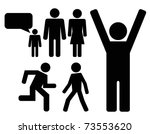 person black icon set | Shutterstock .eps vector #73553620
