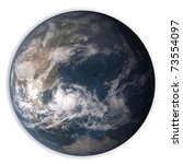 planet earth isolated on white background - stock photo