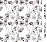 seamless pattern with stylized...   Shutterstock . vector #735545515