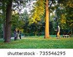 moscow  russia   october 8 ... | Shutterstock . vector #735546295
