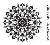 beautiful vector hand drawn... | Shutterstock .eps vector #735547855