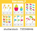 counting educational children... | Shutterstock .eps vector #735548446