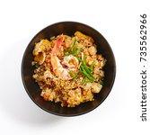 teppanyaki fried rice with...   Shutterstock . vector #735562966