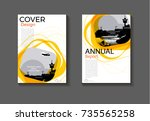 yellow cover circle   design... | Shutterstock .eps vector #735565258