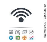 wifi icon. wireless internet... | Shutterstock .eps vector #735568012