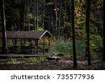 Wooden Terrace During Autumn