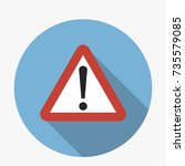 attention sign triangular icon...   Shutterstock .eps vector #735579085
