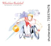 watercolor illustration.... | Shutterstock . vector #735579478