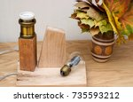 replacement vintage light bulb... | Shutterstock . vector #735593212