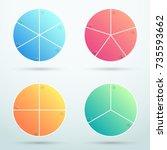 infographic business segments... | Shutterstock .eps vector #735593662