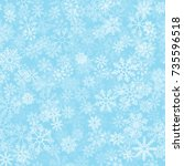 blue frost effect vector... | Shutterstock .eps vector #735596518