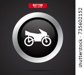 motorcycle icon. transport sign | Shutterstock .eps vector #735602152