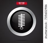 damper icon. car detail | Shutterstock .eps vector #735602986
