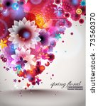 spring floral background. eps... | Shutterstock .eps vector #73560370