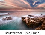 beautiful seascape. composition ... | Shutterstock . vector #73561045