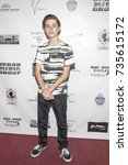Small photo of Caden Conrique attends Red Carpet Halloween Hotness 4: Heating Up For the Cure at American Legion Post 43, Los Angeles, California on October 10th 2017