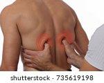 chiropractic  osteopathy ...   Shutterstock . vector #735619198