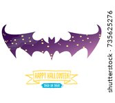 vector halloween abstract bat... | Shutterstock .eps vector #735625276