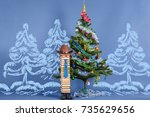 merry christmas and happy new... | Shutterstock . vector #735629656