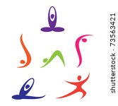 set of yoga icons | Shutterstock .eps vector #73563421
