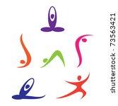 set of yoga icons | Shutterstock .eps vector #73563421