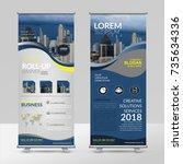 business roll up design... | Shutterstock .eps vector #735634336