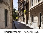 view of old  historical  narrow ...   Shutterstock . vector #735641668