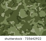 texture military camouflage... | Shutterstock .eps vector #735642922