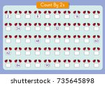 counting by 2's  write the... | Shutterstock .eps vector #735645898