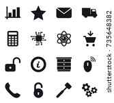 16 vector icon set   graph ...