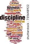 discipline word cloud concept.... | Shutterstock .eps vector #735648922