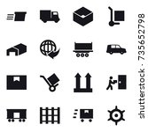 16 vector icon set   delivery ... | Shutterstock .eps vector #735652798