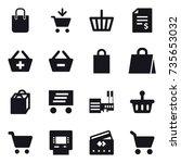16 vector icon set   shopping...   Shutterstock .eps vector #735653032