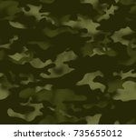 camouflage pattern background... | Shutterstock .eps vector #735655012
