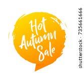 hot summer sale banner  stylish ... | Shutterstock .eps vector #735661666
