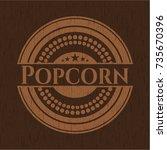 popcorn realistic wooden emblem