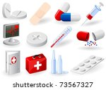 set of medical icons ... | Shutterstock .eps vector #73567327