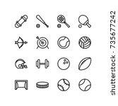 miscellaneous icons of indoor... | Shutterstock .eps vector #735677242