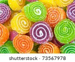 close up of colorful candy | Shutterstock . vector #73567978