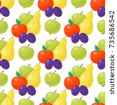 apple background vector... | Shutterstock .eps vector #735686542