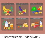 food diet types vector... | Shutterstock .eps vector #735686842
