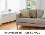 comfort  furniture and interior ... | Shutterstock . vector #735687922
