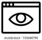 private browsing off icon | Shutterstock .eps vector #735688798