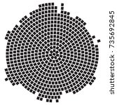 roman mosaic simple stamp... | Shutterstock .eps vector #735692845