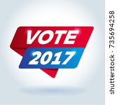 vote 2017 arrow colored tag... | Shutterstock .eps vector #735694258