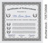grey certificate or diploma... | Shutterstock .eps vector #735710068