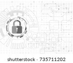 security cyber background. | Shutterstock .eps vector #735711202