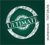 ultimate on chalkboard | Shutterstock .eps vector #735718156