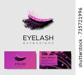 branding for salon eyelash... | Shutterstock .eps vector #735721996